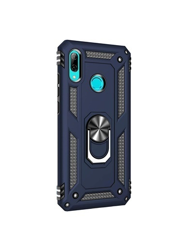 Microsonic Huawei P20 Lite Kılıf Military Ring Holder Lacivert Lacivert